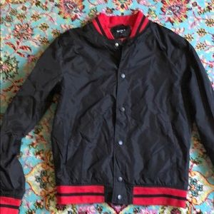 Black and Red Track Jacket